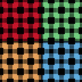 Checkered fabric background. Colored seamless pattern royalty free illustration