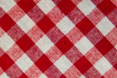 Checkered fabric background stock illustration