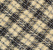 Checkered fabric. Beige and blue checkered fabric for background Royalty Free Stock Photo