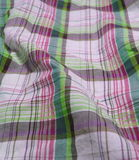 Checkered fabric close up. Close up of pleated checkered fabric cloth Stock Photos