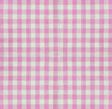 Checkered fabric closeup Stock Images