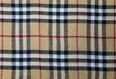 Checkered Fabric Pattern Stock Image