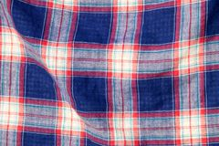 Checkered fabric plaid  texture. Traditional Scottish pattern Stock Photo