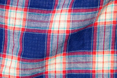 Checkered fabric plaid  texture. Traditional Scottish pattern Royalty Free Stock Images