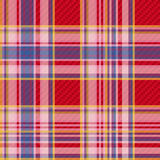 Checkered fabric seamless pattern Royalty Free Stock Photo