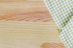Checkered fabric tablecloth Royalty Free Stock Image