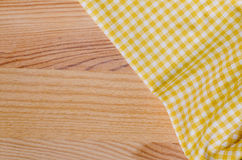 Checkered fabric tablecloth Stock Image