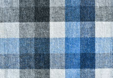 Checkered fabric texture background Royalty Free Stock Images