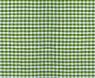 Checkered fabric texture. Checkered textile fabric material texture, closeup Stock Photography