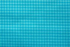 Checkered fabric of turquoise color Royalty Free Stock Photos