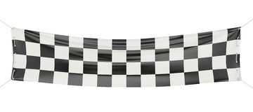 Checkered finish banner Royalty Free Stock Photography