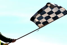 Checkered flag 01 Royalty Free Stock Photo