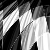 Checkered Flag. An illustrated background with the pattern of a black and white checkered flag Stock Photo