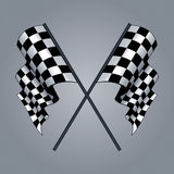 Checkered Flag. Siyah beyaz checkered flag drawing Royalty Free Illustration