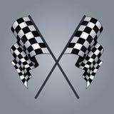 Checkered Flag. Siyah beyaz checkered flag  drawing Royalty Free Stock Images