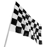 Checkered Flag. Large Checkered Flag with fabric surface texture. White background Royalty Free Stock Photos