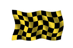 Checkered flag. Checkered yellow/black  flag Royalty Free Stock Photography