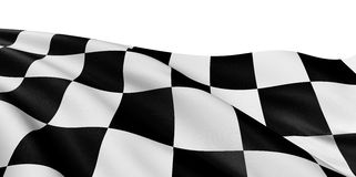 Checkered Flag. Large Checkered Flag with fabric surface texture. White background Royalty Free Stock Image