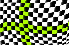 Checkered flag. Illustration of the abstract black and white checkered flag Stock Photo
