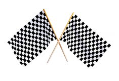 Checkered flag. Isolated on a white background Royalty Free Stock Images