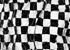 Checkered flag. Wrinkled checkered flag - 3D render Royalty Free Stock Images