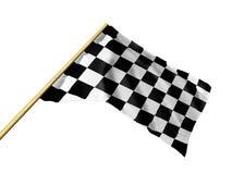 Checkered flag. Race flag checkered on white Royalty Free Stock Photos