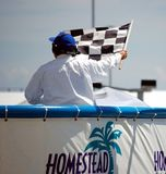 Checkered Flag. At the IZOD INDYCAR Series, October 2, 2010 Royalty Free Stock Image