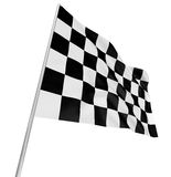 Checkered Flag. Large Checkered Flag with fabric surface texture. White background Royalty Free Stock Photo