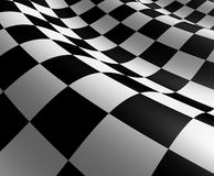 Checkered Flag. With white and black squares representing the concept of winning and first place at the end of the competition Stock Image