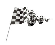 Checkered Flag. Computer illustration, isolated on the white Stock Photography