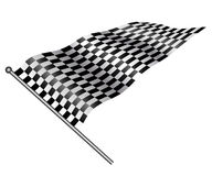 Checkered flag. Checkered flag on white background Royalty Free Stock Photography