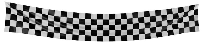 Checkered Flag. Large Checkered Flag with fabric surface texture. White background vector illustration