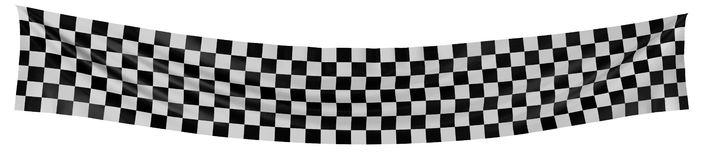 Checkered Flag. Large Checkered Flag with fabric surface texture. White background royalty free illustration