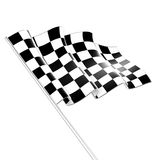 Checkered Flag. Isolated on white background Royalty Free Stock Photography
