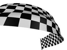 Checkered Flag. Large Checkered Flag with fabric surface texture. White background Stock Images