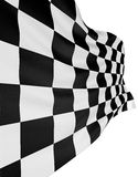 Checkered flag 3. Checkered flag. Rendered image. White background Royalty Free Stock Photo