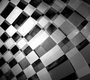 Checkered flag. Abstract of moving checkered flag Stock Image
