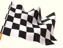 Checkered flag. 3d. Very beautiful three-dimensional illustration, figure Royalty Free Stock Images