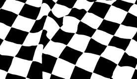 Checkered Flag. Black and white checkered flag waving Stock Photos