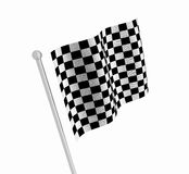 Checkered flag. 3D render of a checkered flag Stock Photo