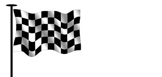 Checkered flag. And flag pole. Photoshop rendered image