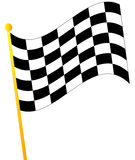 Checkered flag. Waving checkered flag on white background - vector Stock Photography