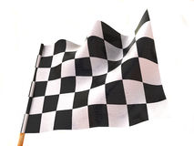 Checkered flag. Very beautiful three-dimensional illustration, figure Stock Photography