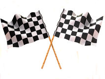 Checkered flag. Very beautiful three-dimensional illustration, figure Stock Image