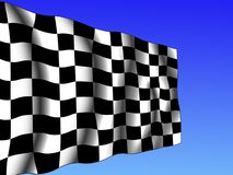 Checkered flag. Computer generated chequered end-of-race flag Stock Photos