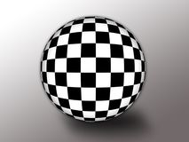 Checkered flag. In the style of a ball Royalty Free Stock Photography
