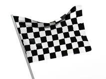 Checkered flag. 3d illustration of start symbol, checkered flag Stock Images
