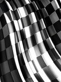 Checkered flag. A computer generated image of a checkered flag - Concept of success Royalty Free Stock Images