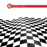 Checkered flag. Waving background, vector illustration Royalty Free Stock Photo