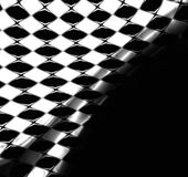 Checkered Flag Background. Checkered racing flag pattern abstract background in black and white and solid black area good for copyspace Stock Photography
